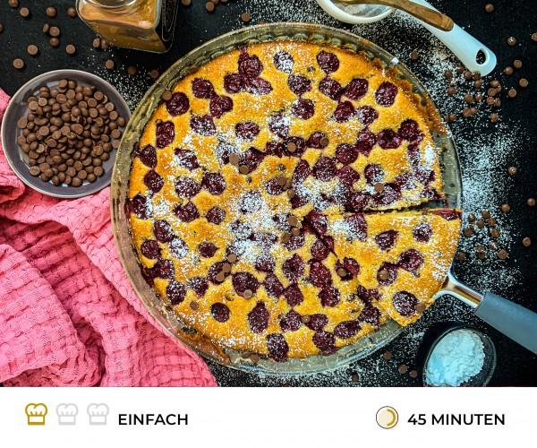 Mandel-Kirsch-Kuchen-mit-Schokodrops
