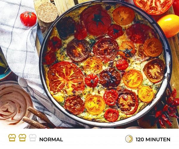 Tomate-Mozzarella-Quiche