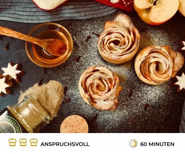 Apfel-Bl-tterteig-Rosen