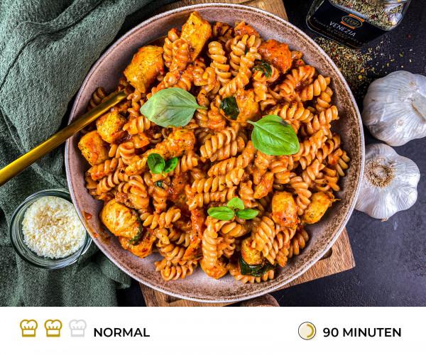 Fussili-mit-Paprikasauce-Rezept