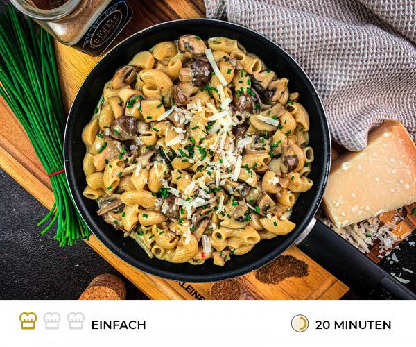 Onepot_Pasta_mit_Pilzen_Rezept_der_kleine_gourmet