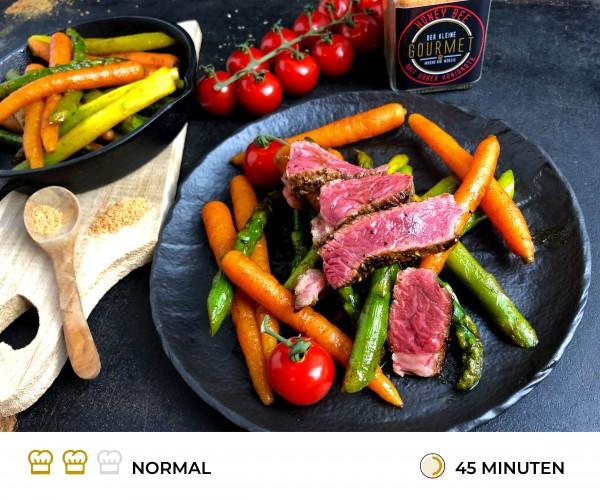 Steak-mit-glasiertem-Spargel